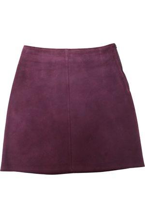 A.P.C. Women Mini Skirts - Leather mini skirt
