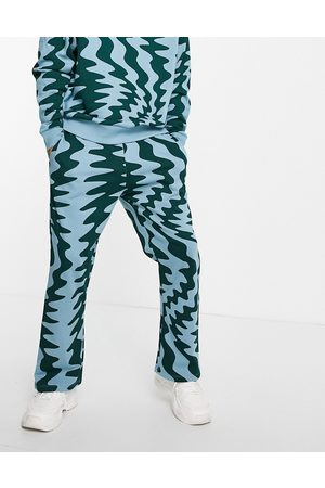 ASOS Oversized sweatpants in all over zig zag print - part of a set-Multi