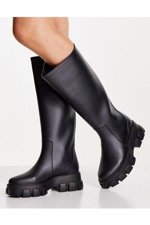 ASOS Gracie chunky knee high rain boots in
