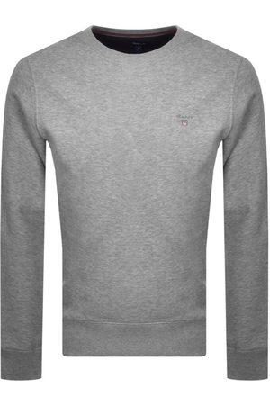 GANT Men Sweatshirts - Crew Neck Logo Sweatshirt Grey