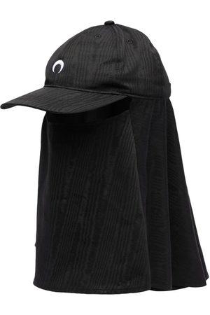 Marine Serre Protective Scarf Branded Cap Black
