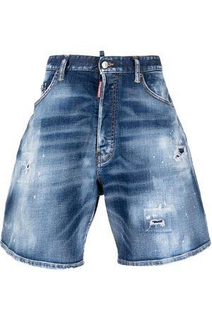 Dsquared2 Distressed Stonewashed Denim Shorts