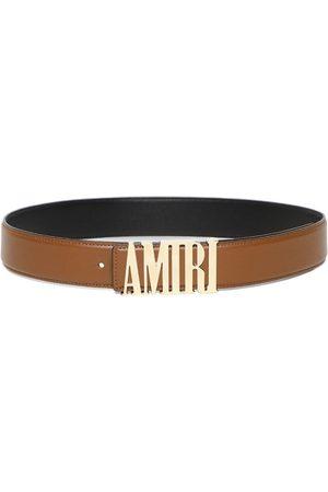 AMIRI Logo Nappa Belt Brown