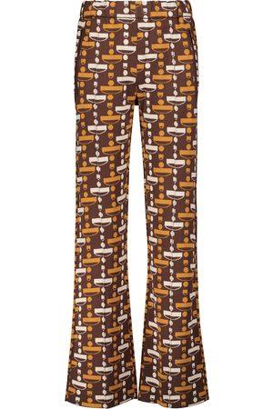 DODO BAR OR Logo jacquard straight-leg pants