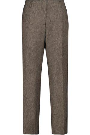 DRIES VAN NOTEN Straight tweed pants