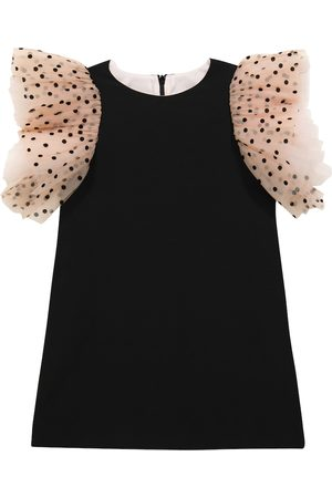 MONNALISA Baby Dresses - Tulle-sleeve dress
