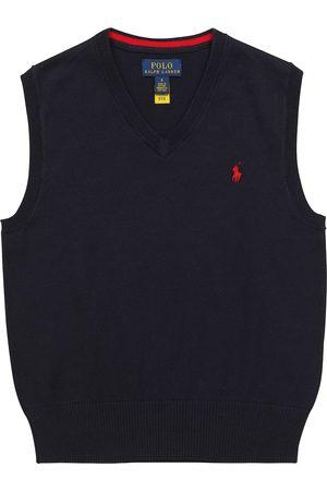 Ralph Lauren Logo-embroidered cotton knit vest