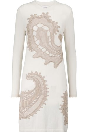 Barrie Paisley cashmere and cotton knit minidress