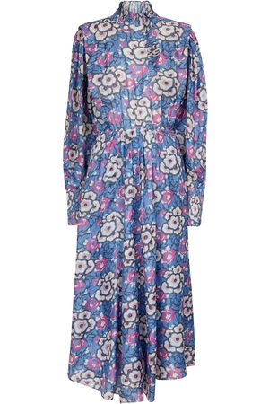 Isabel Marant Cilyescott floral silk organza midi dress