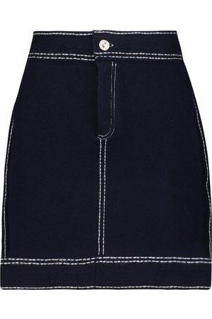 Barrie Women Mini Skirts - Cashmere and cotton miniskirt