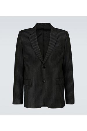 Ami Striped single-breasted wool blazer