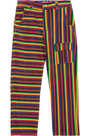 ERL Kids Pinstripe stretch-cotton pants
