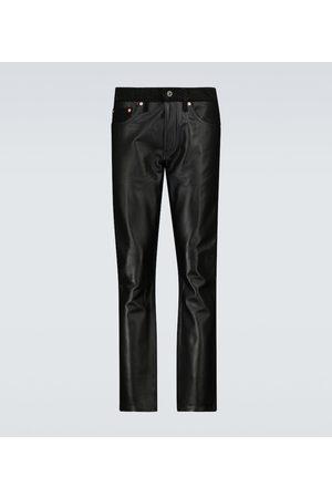 JUNYA WATANABE Leather and denim pants