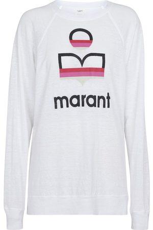 Isabel Marant Kiefferf logo-printed linen top