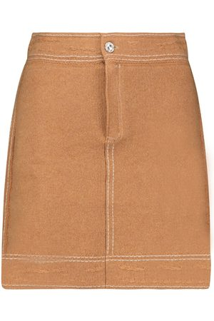 Barrie Cashmere and cotton miniskirt