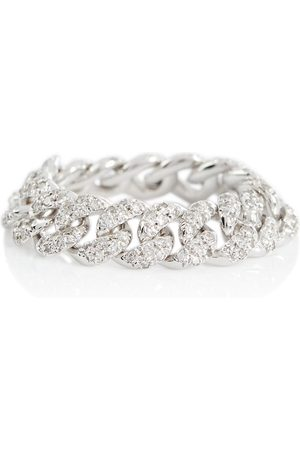Shay 18kt white gold pavé ring with diamonds
