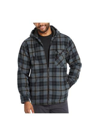 Wolverine Men Shirts - Men's Bucksaw Sherpa Shirt Jac Dark Navy Plaid, Size L