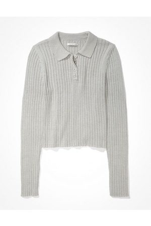 American Eagle Outfitters Cropped Polo Sweater Women's XXS