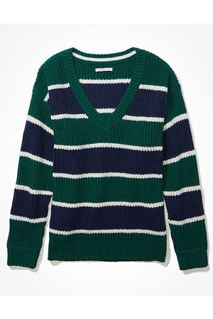 American Eagle Outfitters Oversized Vintage V-Neck Sweater Women's XXS