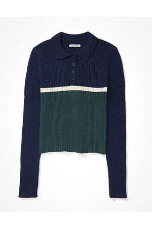 AE Cropped Polo Sweater Women's XXS