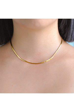 Astrid & Miyu Women's Snake Chain Necklace In