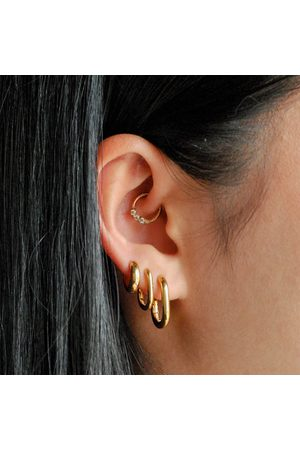 Astrid & Miyu Women Earrings - Women's Rectangular Hoops In