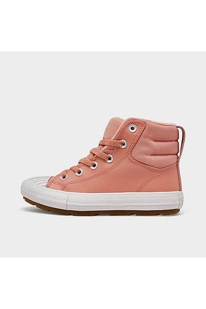 Converse Girls' Little Kids' Chuck Taylor All Star Berkshire Leather High Top Casual Boots in /Rust Size 1.0 Leather/Fleece