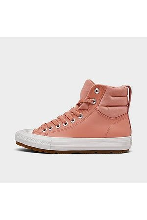 Converse Girls' Big Kids' Chuck Taylor All Star Berkshire Leather High Top Casual Boots in /Rust Size 4.0 Leather/Fleece