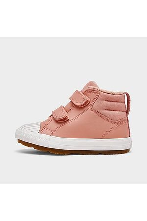 Converse Sneakers - Girls' Toddler Chuck Taylor All Star Berkshire Leather High Top Casual Boots in /Rust Size 4.0 Leather/Fleece