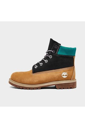 Timberland Boots - Big Kids' 6 Inch Premium Boots in Brown/Wheat Size 3.5 Leather