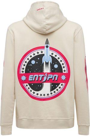 ENTERPRISE JAPAN Men Hoodies - Space Logo Printed Cotton Hoodie