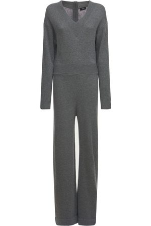THEORY V Neck Wool & Cashmere Jumpsuit