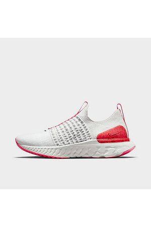 Nike Women Running - Women's React Phantom Run Flyknit 2 Running Shoes in White/Platinum Tint Size 5.0