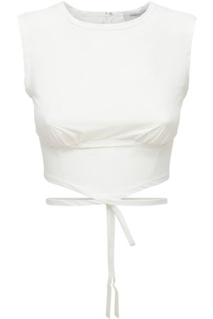 CHRISTOPHER ESBER Cotton & Nylon Crop Top