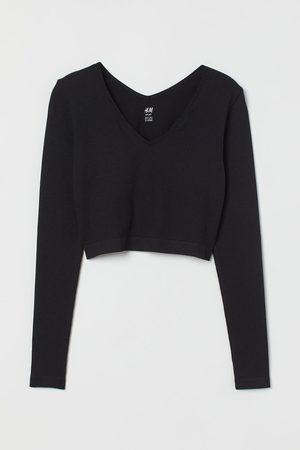 H&M Women Sports T-shirts - Seamless Sports Crop Top