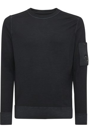 C.P. COMPANY Men Sweatshirts - Faded Wool Knit Crewneck Sweater