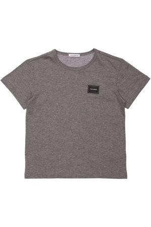 Dolce & Gabbana Boys T-shirts - Logo Patch Cotton T-shirt