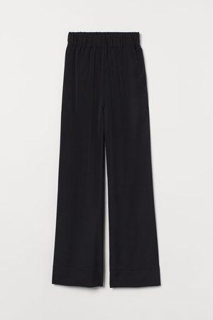 H & M Women Wide Leg - Wide-leg Silk-blend Pants