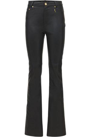 ROBERTO CAVALLI Leather Straight Pants