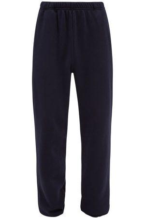 Les Tien Brushed-back Cotton Track Pants - Mens - Navy
