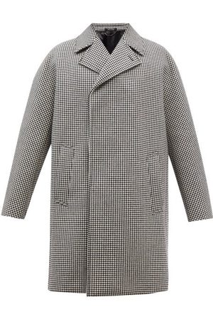Dunhill Double-breasted Houndstooth-check Wool-blend Coat - Mens
