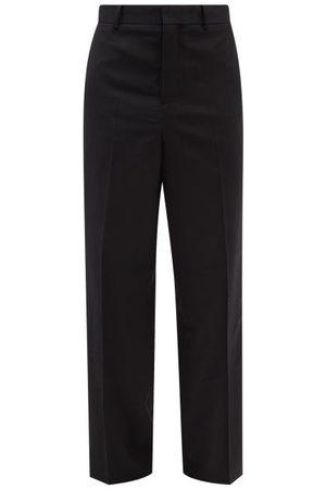 Charles Jeffrey Loverboy Men Wide Leg Pants - Striped Wool Wide-leg Trousers - Mens