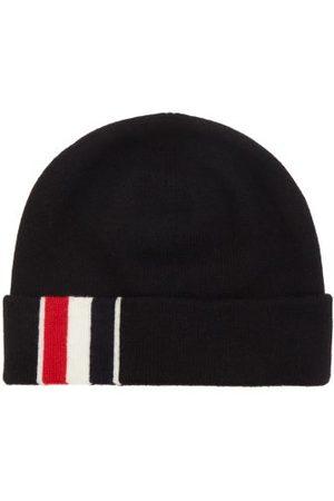 Thom Browne Tricolour-intarsia Merino-wool Beanie Hat - Mens