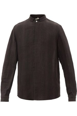 11.11/eleven eleven Men Shirts - Linen-blend Shirt - Mens