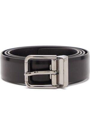 Dolce & Gabbana Men Belts - Logo-engraved Leather Belt - Mens