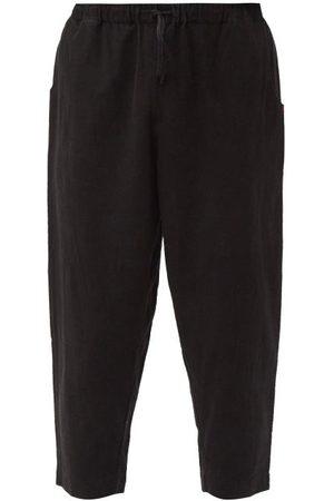 11.11/eleven eleven Wide-leg Organic-cotton Cropped Trousers - Mens