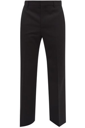 WALTER VAN BEIRENDONCK Men Wide Leg Pants - Elephant High-rise Wool Wide-leg Trousers - Mens