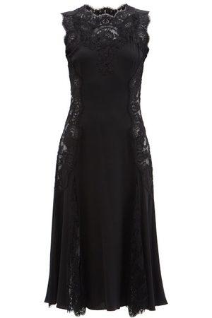 Dolce & Gabbana Women Midi Dresses - Lace-trimmed Silk-blend Crepe Midi Dress - Womens