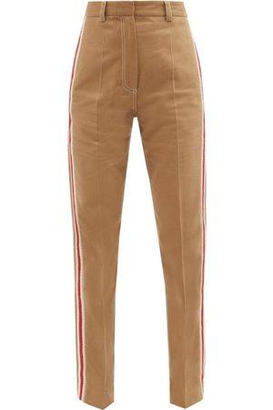 Wales Bonner London Cotton-blend Straight-leg Trousers - Womens - Camel