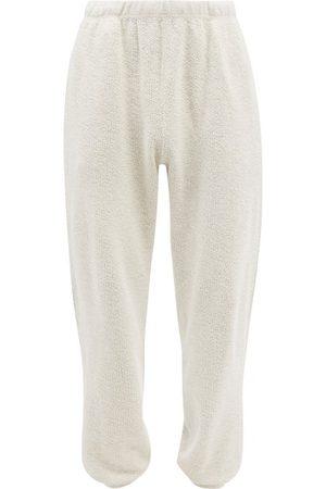Les Tien Men Sweatpants - Brushed Cotton-jersey Track Pants - Mens - Grey